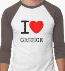 I LOVE GREECE Men's Baseball ¾ T-Shirt