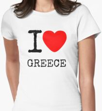 I LOVE GREECE Womens Fitted T-Shirt