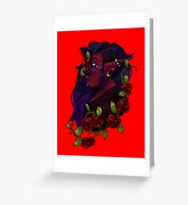 Roses for a Dead Lover Greeting Card