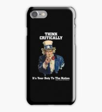 Think Critically iPhone Case/Skin