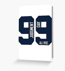 Aaron Judge 99 Judgment Day Greeting Card