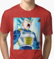 Super Saiyan Blue Vegeta [Dragon Ball Super] Tri-blend T-Shirt