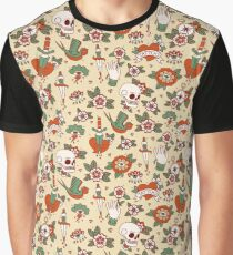 Traditional Old School Tattoo Pattern Graphic T-Shirt