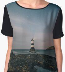 Lighthouse at dusk Chiffon Top