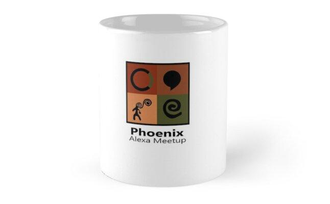 'Phoenix Alexa Meetup - Small Logo & Text' Mug by Mark Tucker