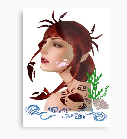 Astrology :-Cancer Metal Print