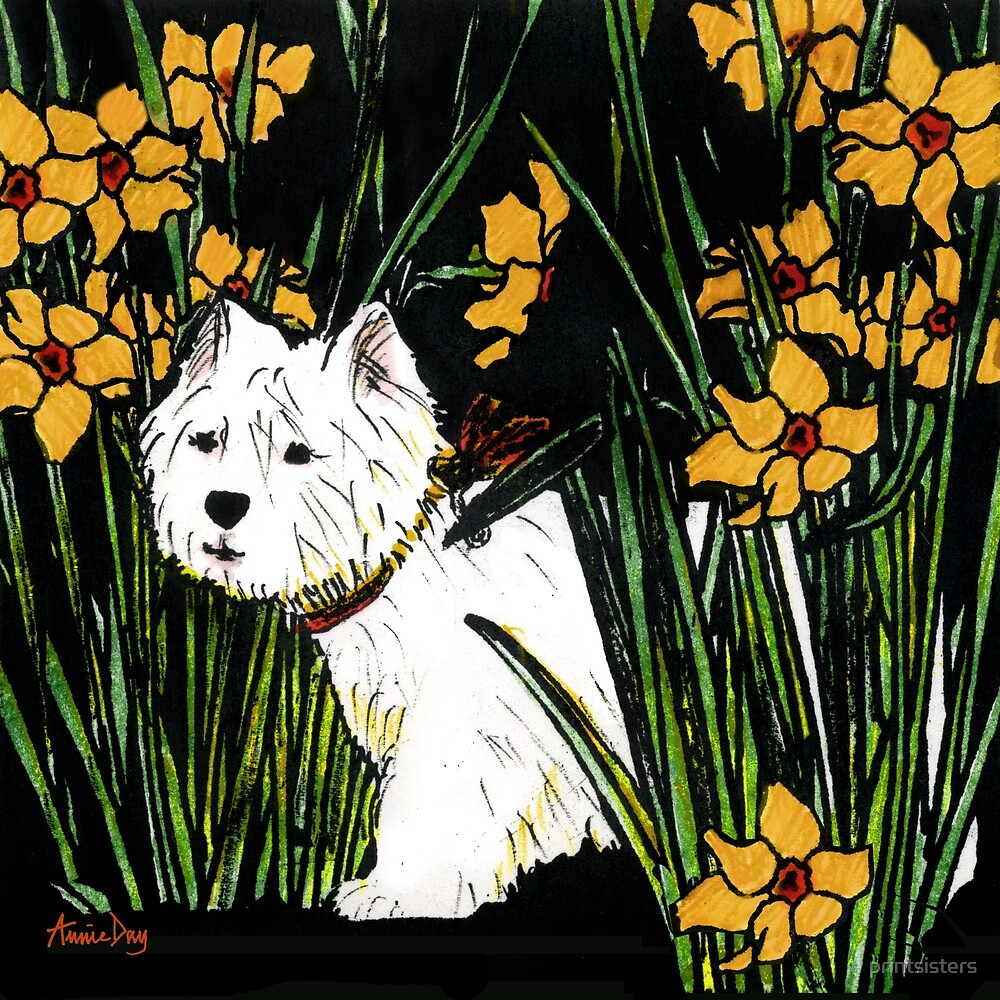 Westie - yellow version by printsisters
