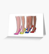 Shoe addict Greeting Card