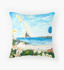 Sensing Bondi Throw Pillow
