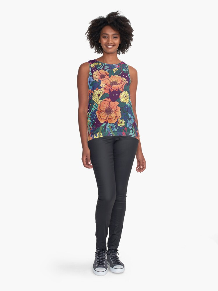 Alternate view of Wild Flowers Sleeveless Top