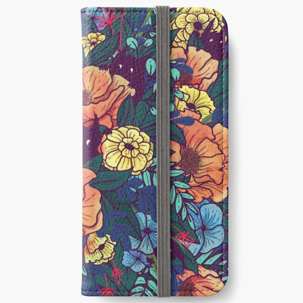 Wild Flowers iPhone Wallet