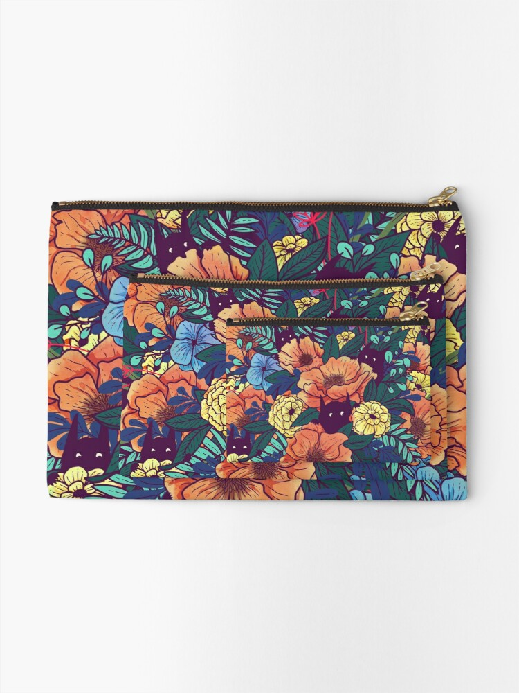 Alternate view of Wild Flowers Zipper Pouch