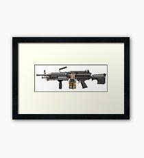 MILITARY MACHINE GUN merchandise Framed Print