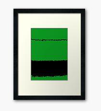 black wire Framed Print