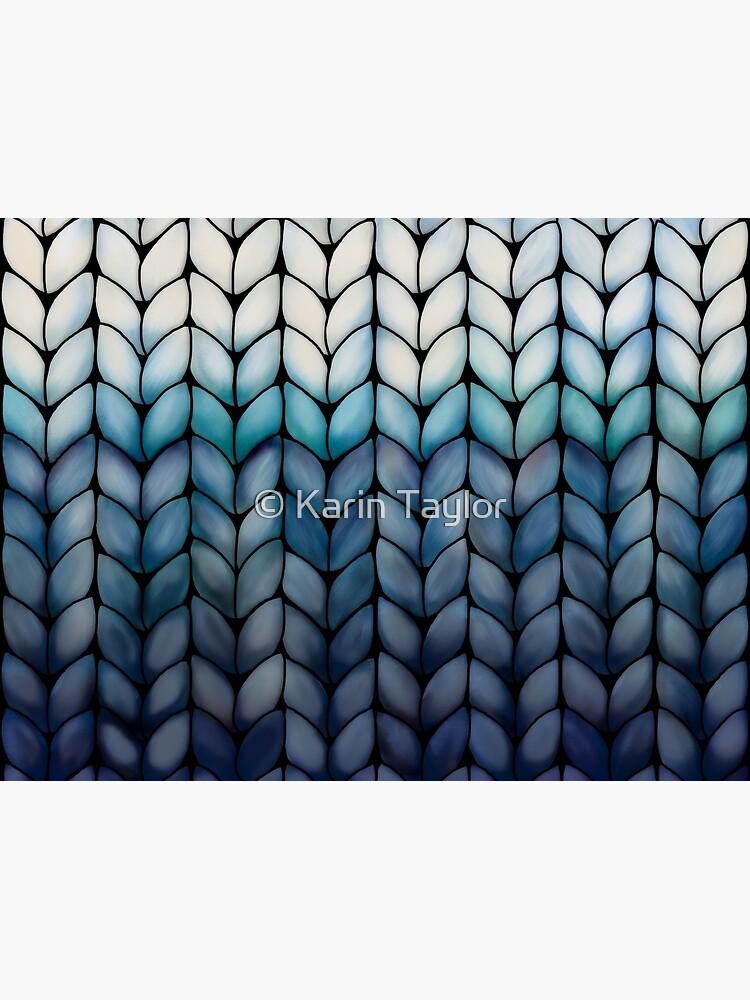 Chunky Ocean Blue Knit by karin