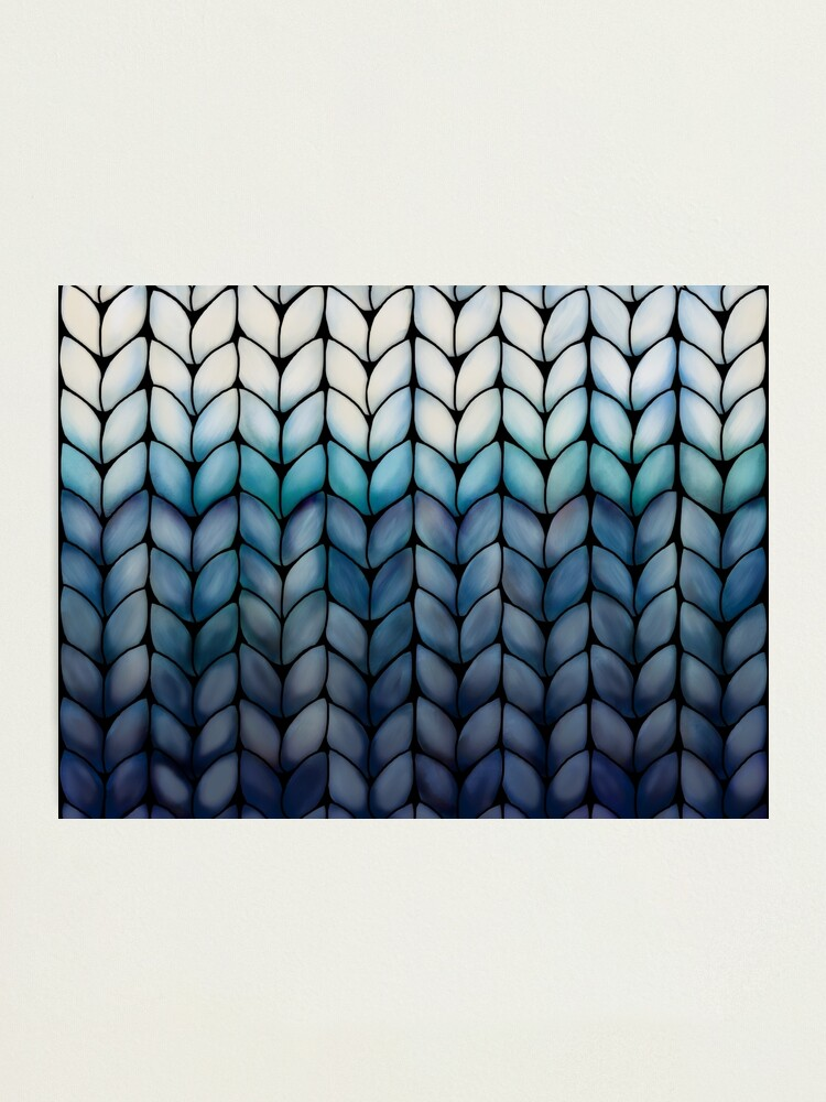 Alternate view of Chunky Ocean Blue Knit Photographic Print