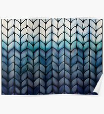 Chunky Ocean Blue Knit Poster