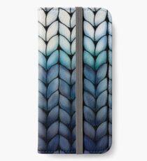Chunky Ocean Blue Knit iPhone Wallet/Case/Skin