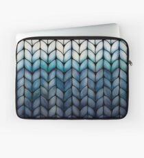 Chunky Ocean Blue Knit Laptop Sleeve