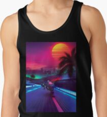 Synthwave Midnight Outrun Tank Top
