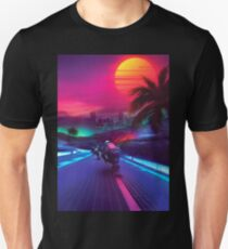 Synthwave Midnight Outrun Unisex T-Shirt
