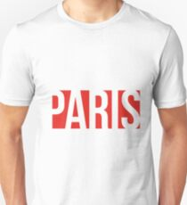 PARIS red/white T-Shirt