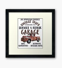Vintage Truck Service Repair Garage Framed Print