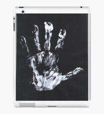 Palm print Finger Prints Black White  iPad Case/Skin