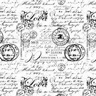 Black and White Ephemera and Handwriting  by artsandsoul