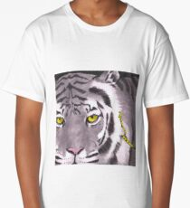 Tiger on a Gold Leash Long T-Shirt