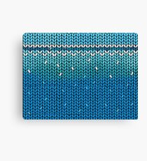 Aquamarine Knit Canvas Print