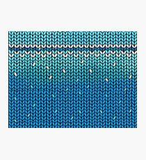 Aquamarine Knit Photographic Print