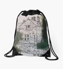 Old police house robinhoods bay Drawstring Bag