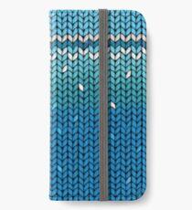 Aquamarine Knit iPhone Wallet/Case/Skin