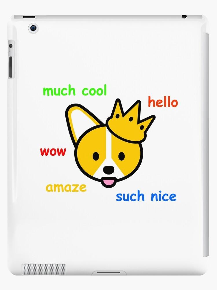 Skin Roblox Doge Comic Sans Corgi Shiba Inu Doge Meme Dog Ipad Case Skin By Jayrauler Redbubble