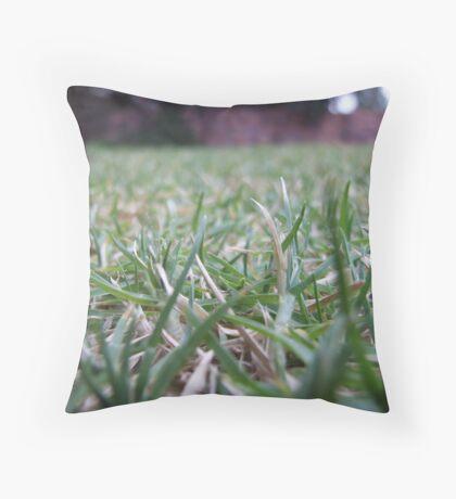 Close-Up Lawn Throw Pillow