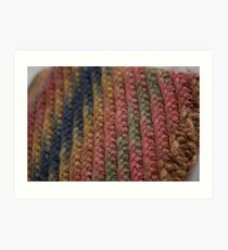 Knitted Weave Art Print