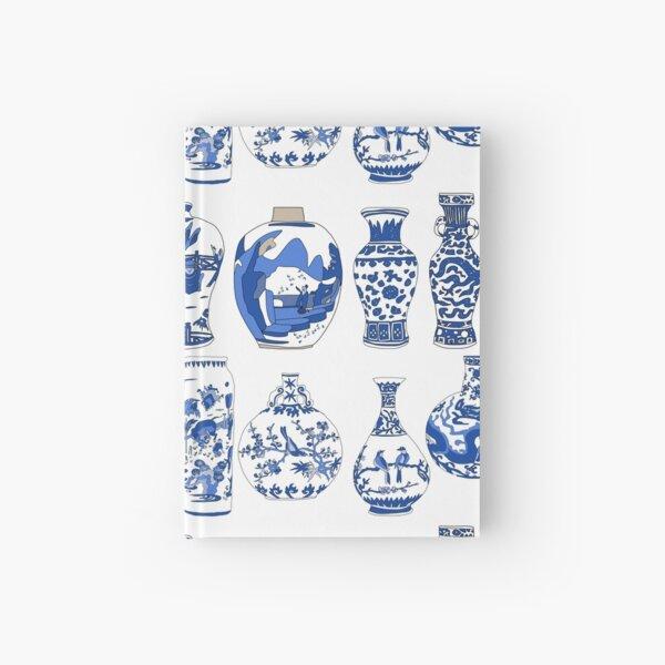 Blue Oriental Vases Hardcover Journal