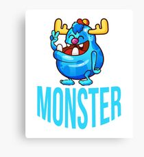 Monster Cute Colorful Funny Gift T-Shirt  Canvas Print