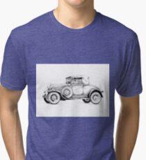Old classic car retro vintage 01 Tri-blend T-Shirt