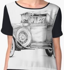Old classic car retro vintage 01 Chiffon Top