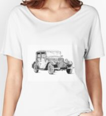 Old classic car retro vintage 02 Women's Relaxed Fit T-Shirt