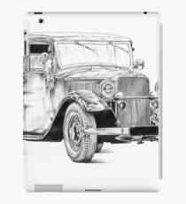 Old classic car retro vintage 02 iPad Case/Skin