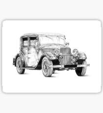 Old classic car retro vintage 02 Sticker