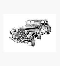 Old classic car retro vintage 03 Photographic Print