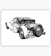 Old classic car retro vintage 04 Sticker
