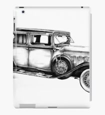 Old classic car retro vintage 05 iPad Case/Skin