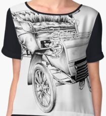 Old classic car retro vintage 06 Women's Chiffon Top