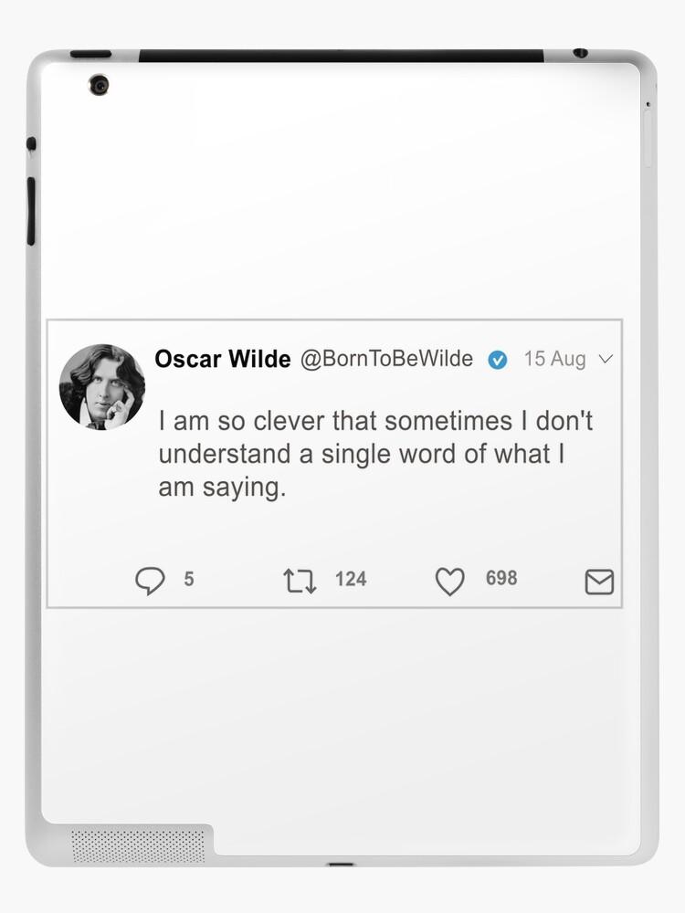 Oscar Wilde Quotes Twitter Ipad Case Skin By Wearelectricity Redbubble