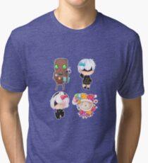 Nier automata sticker set chibi Tri-blend T-Shirt